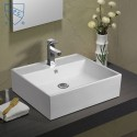 White Rectangle Ceramic Above Counter Basin (DK-LSE-8113)