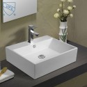 White Rectangle Ceramic Above Counter Basin (DK-LSE-8114)