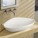White Triangular Ceramic Above Counter Basin (DK-LSE-8093A)