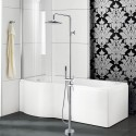 Freestanding Bathtub Faucet with Shower Head - Brass with Chrome Finish (DK-9101)