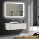 36 x 28 In Horizontal Lighted LED Bathroom Silvered Mirror, Touch Button (DK-OD-N031-I)