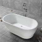 59 In White Acrylic Freestanding Bathtub (DK-YU-17572)