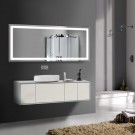 70 x 32 In. Horizontal LED Illuminated Bathroom Silvered Mirror, Touch Button (DK-OD-CK010-A)