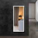 DECORAPORT 56 x 22 Inch LED Full-Length Dress Mirror with Touch Button, Explosion-proof Film, Dimmable, Frameless, Cold & Neutral & Warm Lights, Mirror&Wall Control, Standing Holder (D2304-5622)