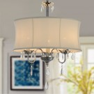 3-Light Modern Crystal Iron Chandelier with Fabric Shade (DK-RL3207)