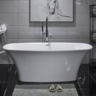 59 In Pure White Acrylic Freestanding Bathtub (DK-80572)