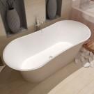 64 In Double Slipper Synthetic Stone Freestanding Bathtub - Matte White (DK-HA8601)