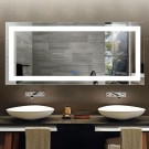 DECORAPORT 70 x 32 Inch LED Bathroom Mirror/Dress Mirror with Touch Button, Anti Fog, Dimmable, Vertical & Horizontal Mount (CT02-7032)