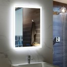Decoraport 24 x 32 In LED Bathroom Mirror with Touch Button, Anti-Fog, Dimmable, Vertical & Horizontal Mount (N031-2432-TS)