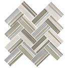 12.4 in. x 13.8 in. Glass Stone Blend Strip Mosaic Tile in Multi - 8mm Thickness (DK-8NF0606-002)
