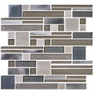 8mm Thickness Electroplated Glass Mosaic Tile - 12 in. x 12 in. (DK-MG104823Y714D)