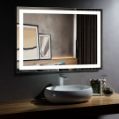 48 x 36 In Horizontal LED Bathroom Mirror, Touch Button (DK-OD-CK010-D)