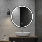 DECORAPORT 32 x 32 Inch LED Bathroom Mirror/Dress Mirror with Touch Button, Anti Fog, Dimmable, Vertical Mount (D803-3232)