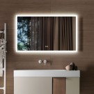 DECORAPORT 60 x 36 Inch LED Bathroom Mirror with Touch Button, Anti Fog, Dimmable, Vertical & Horizontal Mount (D103-6036)