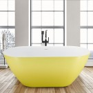 67 Inch Acrylic Freestanding Bathtub in Lemon Yellow (K123775L)