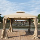 11.48 ft. x 11.48 ft. Roman Style Outdoor Cabin Gazebo (LM-002-3)