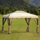 9.84 ft. x 11.81 ft. Roman Style Outdoor Cabin Gazebo (LM-003)