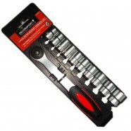 11 Pieces Socket Wrench Set, 3/8 Inch (TK-050)