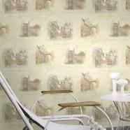 PVC 3D Scenic Pattern Room Wallpaper (DK-SE451202)