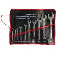 Double Open-End Wrench Set, 10 Pieces (WLDTK-02)
