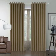 "Brown Blackout Grommet Curtain Panel, 42"" W x 96"" L (DK-GT003)"