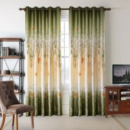 "Green Blackout Grommet Curtain Panel, 50"" W x 96"" L (DK-GT004)"