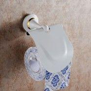 White Painting Brass Toilet Paper Holder (80351D)