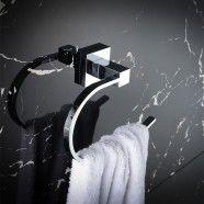 Chrome Brass Towel Ring (80860)