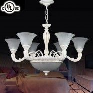 6+3 Light Metal & Resin Built Chandelier/Diameter 32 Inch (CH0064-6-3)