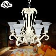 6-Light Metal & Resin Built Chandelier/Diameter 29 Inch (CH0019-6C)