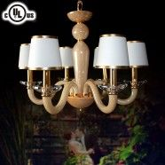 6-Light Glass Built Chandelier/Diameter 24 Inch (HD9330-6)