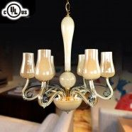 6-Light Glass Built Chandelier/Diameter 24 Inch (HD9328-6)
