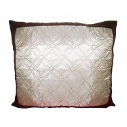Decorative Throw Pillow Cover - Silver Embroidered (DK-LJ019)