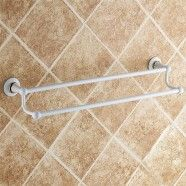 White Painting Brass Double Towel Bar (80348D)