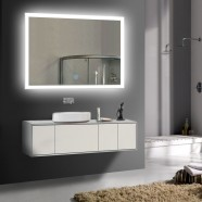 36 x 28 In Horizontal LED Bathroom Silvered Mirror, Touch Button (DK-OD-N031-I)