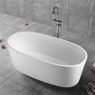 63 In White Acrylic Freestanding Bathtub (DK-YU-16678)