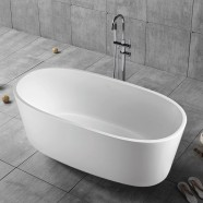 63 In Pure White Acrylic Freestanding Bathtub (DK-PW-16678)
