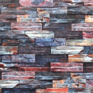 3D Rustic Stonewall Wallpaper, 57 sq.ft/Roll (DK-SE455001)