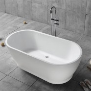 59 In Pure White Acrylic Freestanding Bathtub (DK-PW-17572)