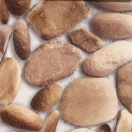3D Rustic Cobblestone PVC Room Wallpaper, 57 sq.ft/Roll (DK-SE457002)