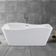 59 In White Acrylic Freestanding Bathtub (DK-YU-25572)