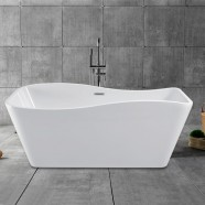 59 In Pure White Acrylic Freestanding Bathtub (DK-PW-25572)