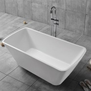 68 In White Acrylic Freestanding Bathtub (DK-YU-27778)