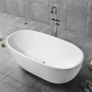 59 In White Acrylic Freestanding Bathtub (DK-YU-29572)