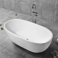 59 In Pure White Acrylic Freestanding Bathtub (DK-PW-29572)