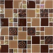12 in. x 12 in. Electroplated Glass Mosaic Tile - 8mm Thickness (L480A2)