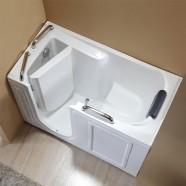 53 x 26 In Walk-in Soaking Bathtub - Acrylic White with Left Drain (DK-Q373-L)