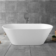 62 In White Acrylic Freestanding Bathtub (DK-YU-5672)