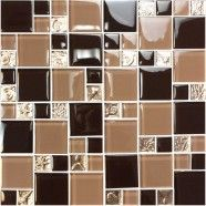 12 in. x 12 in. Electroplated Glass Mosaic Tile - 8mm Thickness (SH04A3)