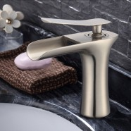 Basin&Sink Waterfall Faucet - Brass in Brushed Nickel (81H36-BN-005)